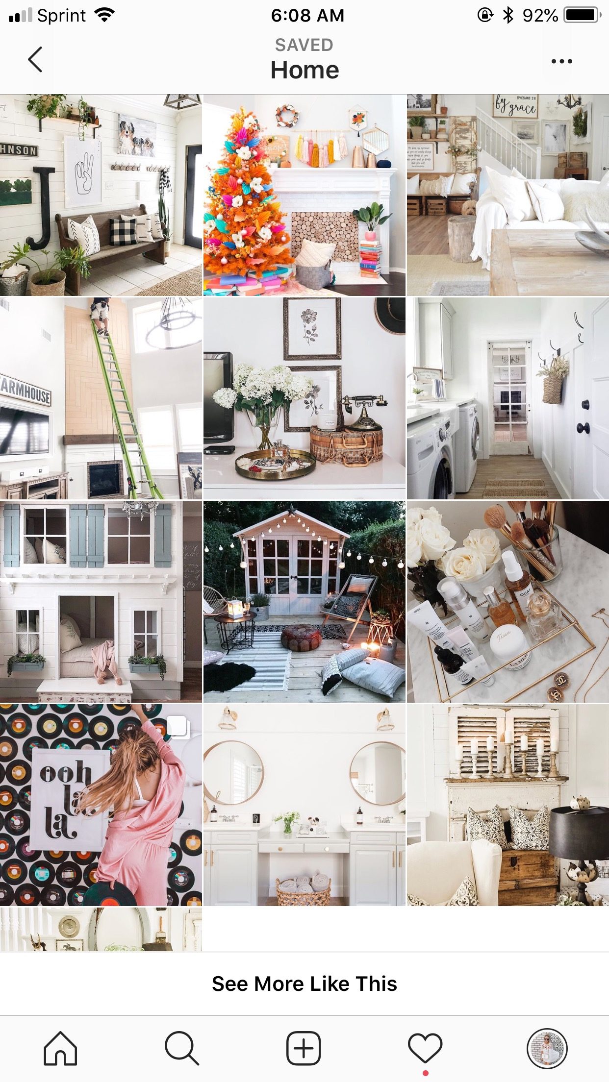 instagram feed- home