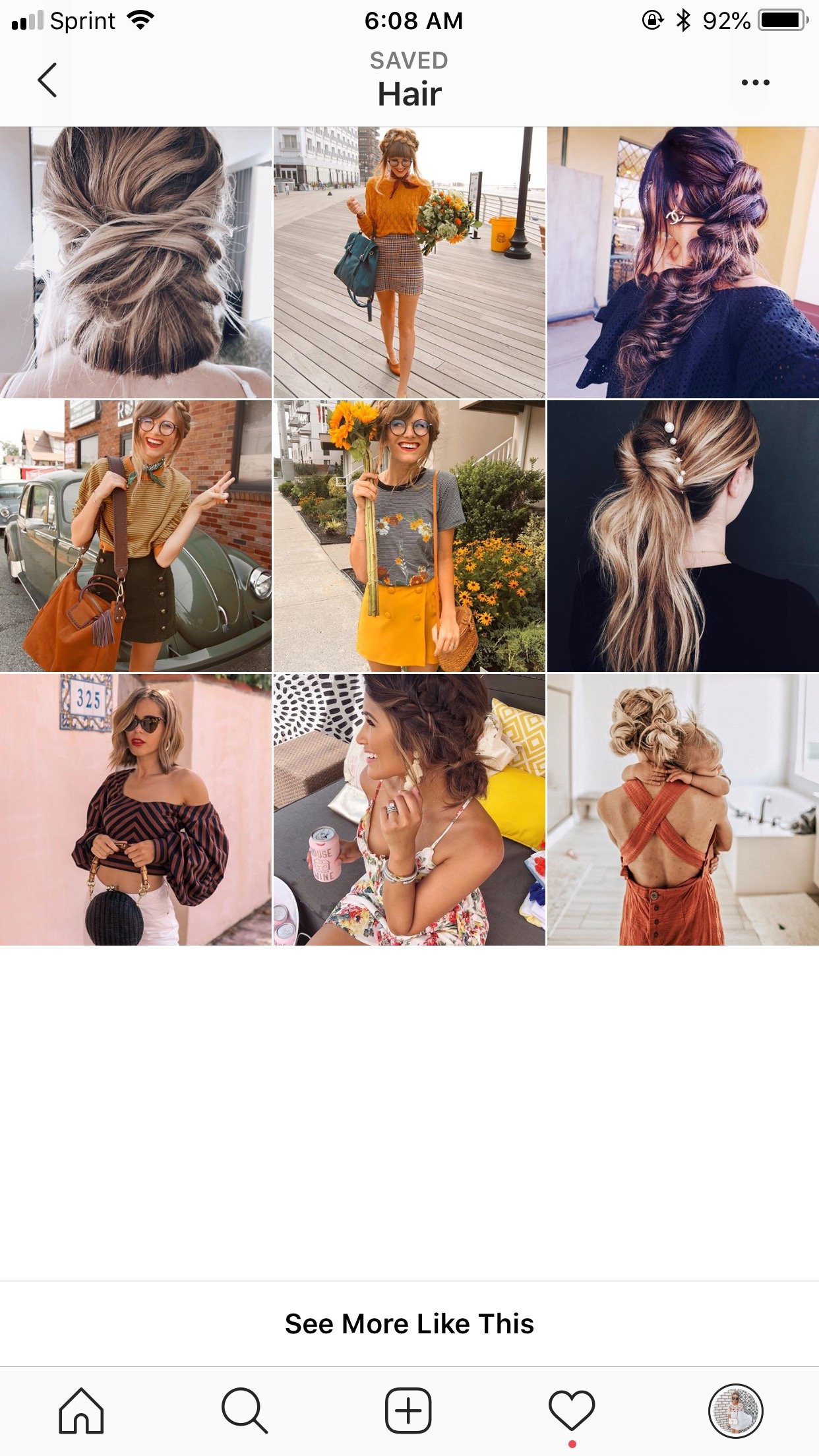 Instagram feed hair