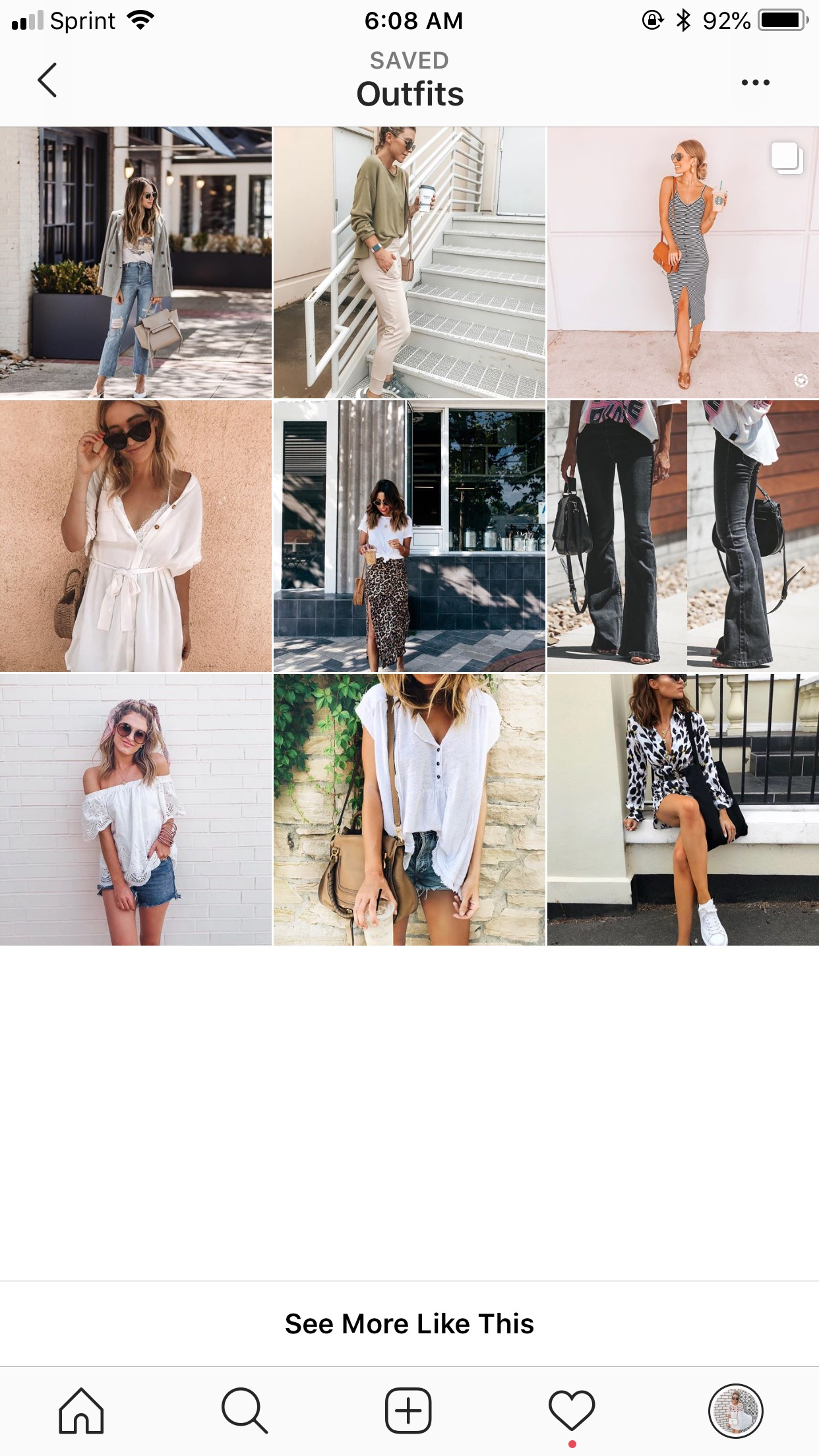 instagram feed- outfits