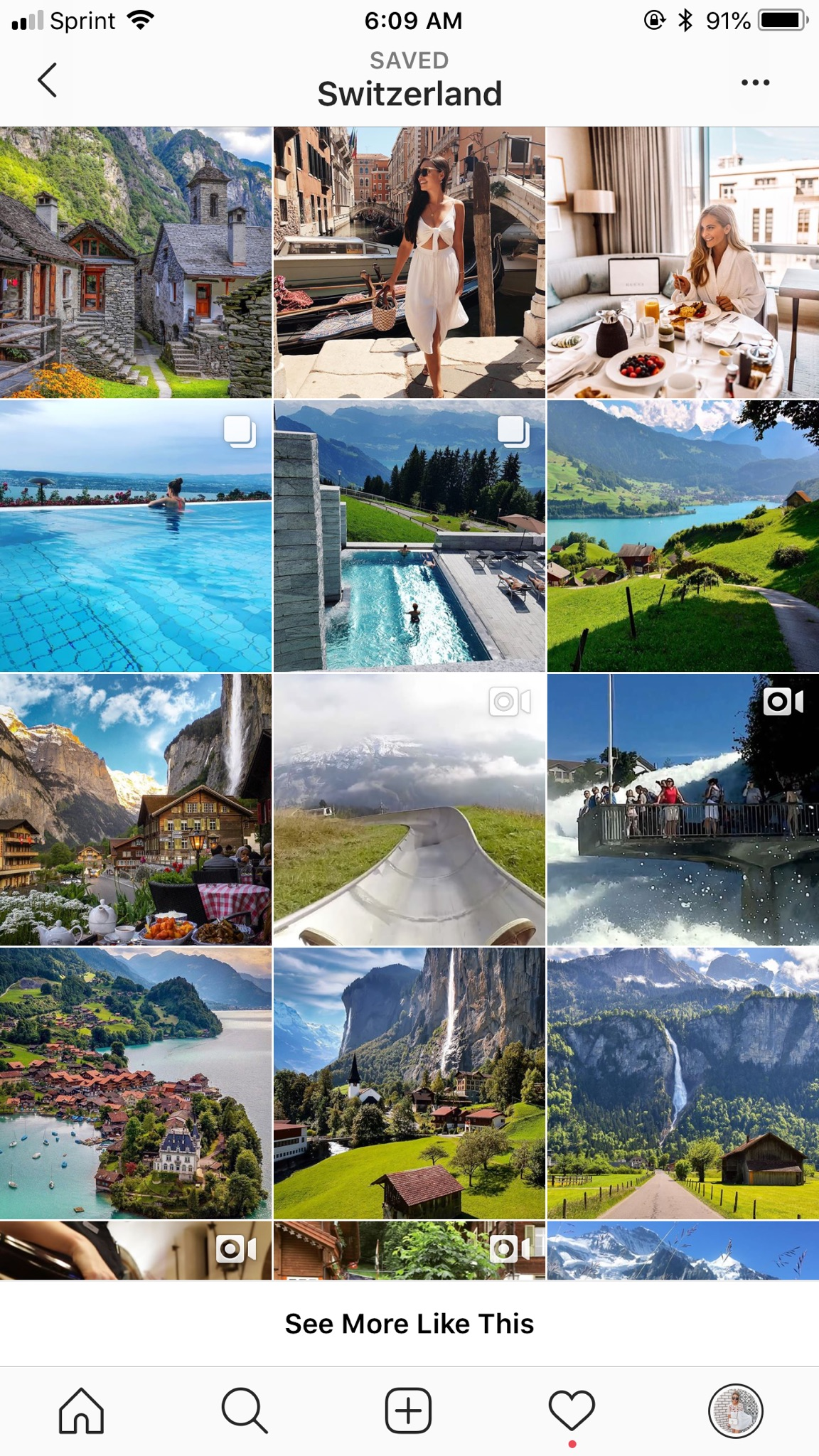 travel instagram feed