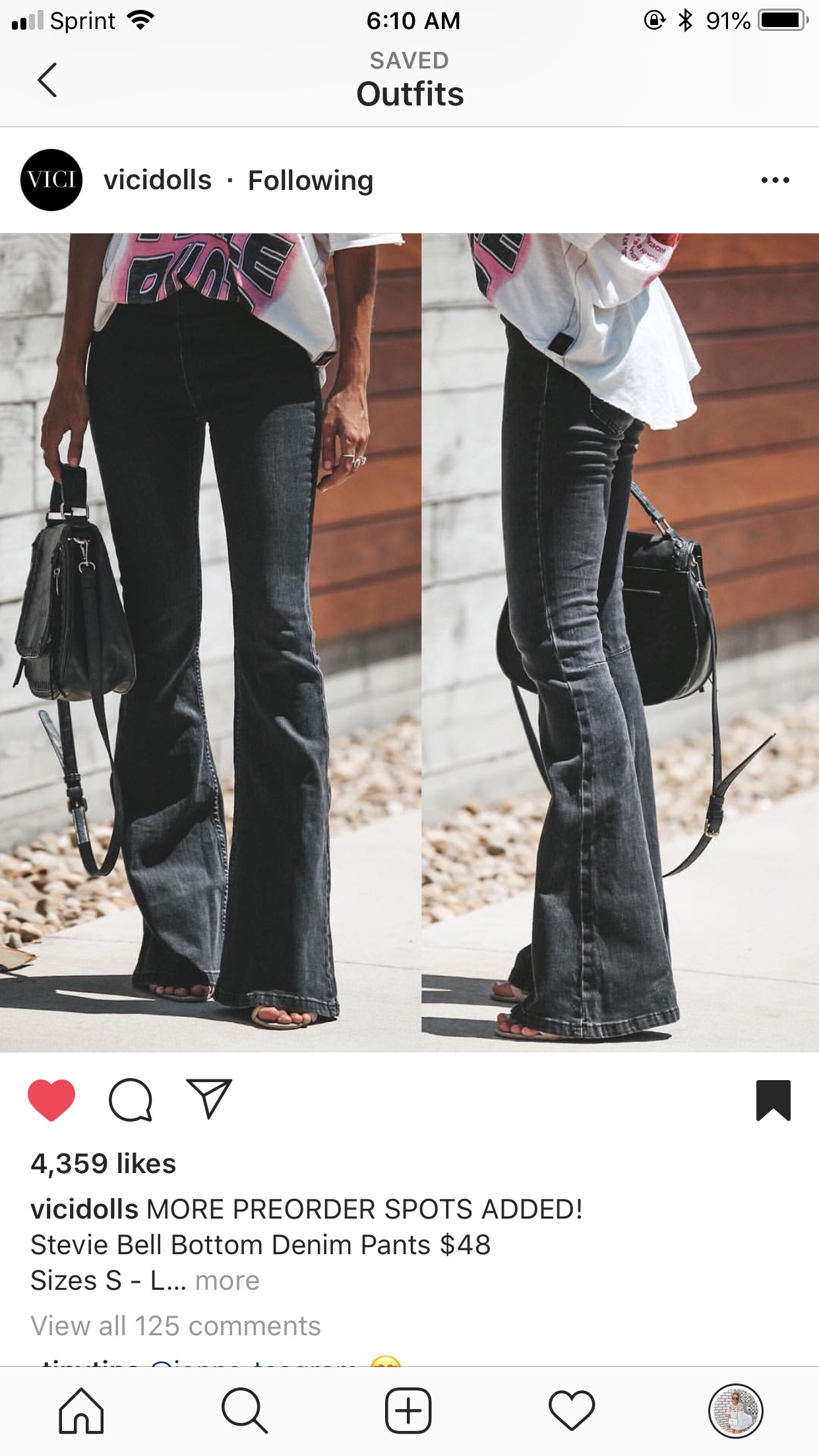 black flares instagram
