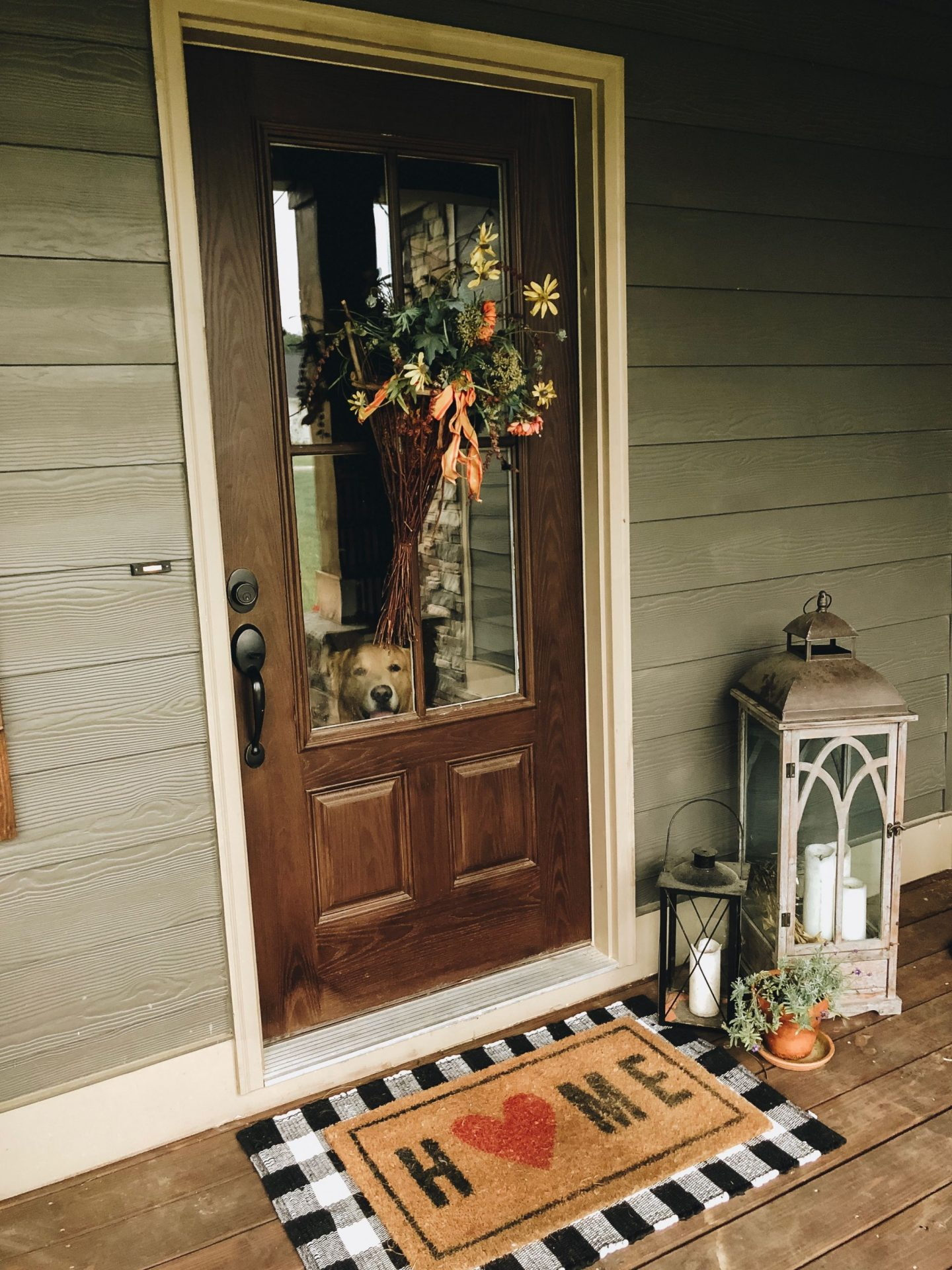 farmhouse front porch door