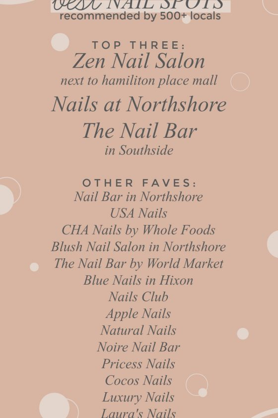 Chattanooga's best nail spots