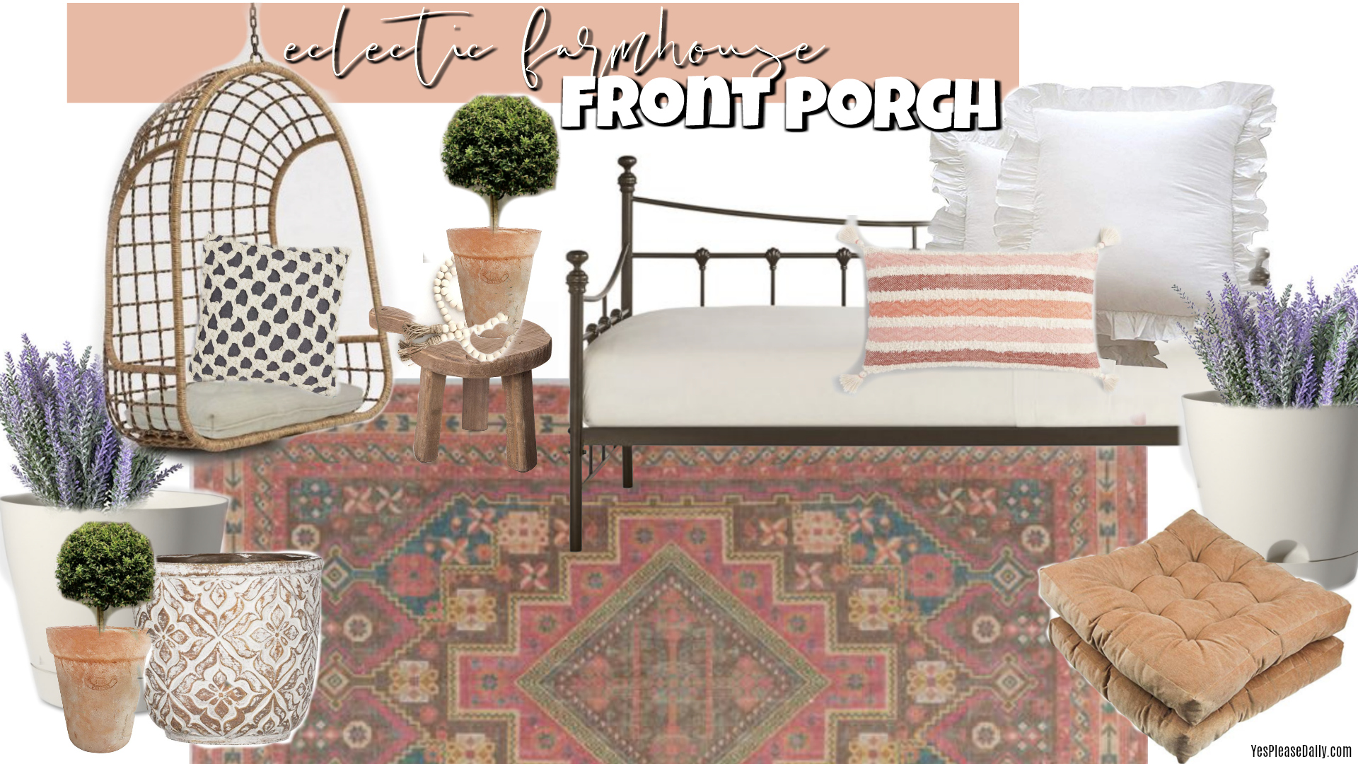 farmhouse front porch moodboard