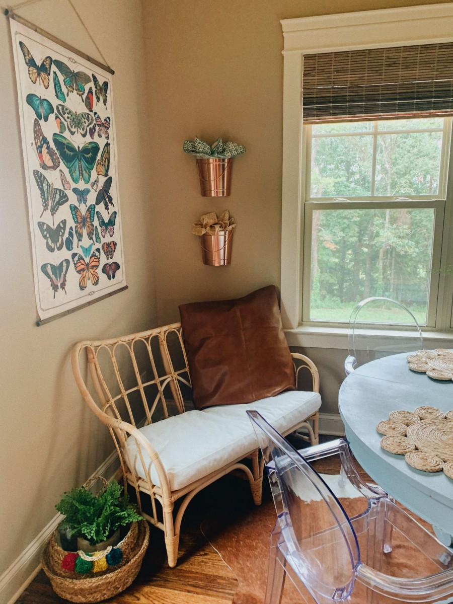 boho farmhouse breakfast nook