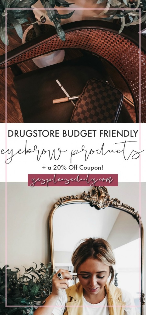 drugstore budget friendly eyebrow