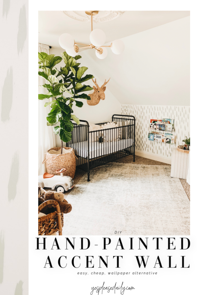 diy hand-painted accent wall