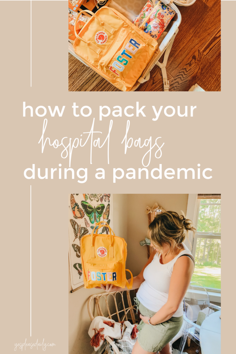 hospital bag during a pandemic
