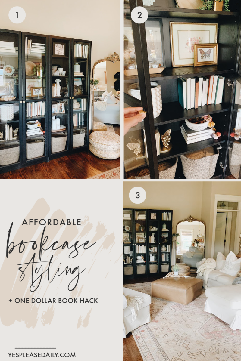 Bookcase Styling on a Budget